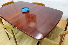 Danish Mid Century Skovby Rosewood Double Extending Dining Table Retro Vintage