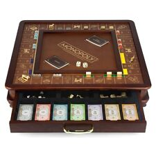 Monopoly Luxury Edition with Wooden Game Board & Gold Foil by Winning Solutions