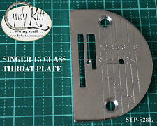 Singer 15 Class Throat Plate with Line Guide