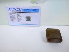 Gold Brauner Saphir- Achteck Schliff (Facettiert) 235 Karat - mit Zertifikat -DR