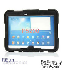 "Black Shock Proof Heavy Duty Tough cover case for Samsung Galaxy Tab 3 10""1"