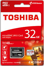 TOSHIBA MICRO SD SDHC MEMORY CARD UHS-1 CLASS 10 - 32GB - 48MB/s