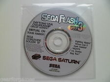SEGA SATURN PAL SEGA FLASH VOL 3 DEMO DISK
