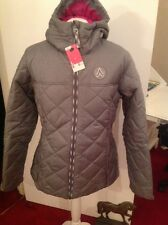 Decathalon ladies grey hooded jacket size large new