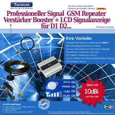 1500m2 GSM 900MHz Repeater Handy Verstärker Booster Omni +10dBi Antenne Vodafone