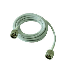1M White Cable RG58 Low Loss Coaxial Cable For Signal Amplifier Antennas