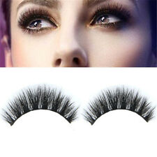 Makeup 100% Real Mink Natural Thick False Fake Eye Lashes Eyelashes Extension