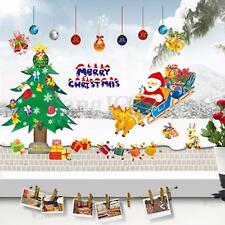 Christmas Santa Claus Xmas Tree Removable Window Wall Sticker Vinyl Decal Decor