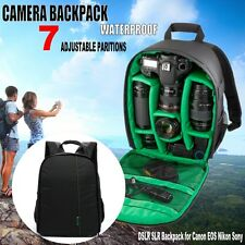 Waterproof Shockproof Camera Bag Green DSLR SLR Backpack fr Canon EOS Nikon Sony