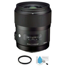 Sigma 35mm F/1.4 HSM DG Lens For Canon + UV Filter & Cleaning Kit