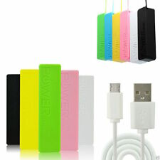 PORTABLE EXTERNAL USB 2600 mAh POWER BANK BATTERY PACK CHARGER for MOBILE PHONE