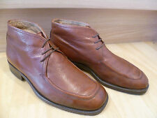 Bally brown grain leather ankle boot UK 6.5 40 vtg sq toe derby lace-up chukka