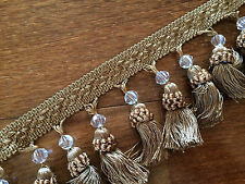 High quality Tassel Trim  Fringe with Beaded For Cutain, Lampshade & Cushion