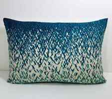 """Scion Uzuri - Topaz/Ivory Fabric cushion cover 16"""" x 12"""" complete with inner"""