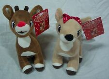 RUDOLPH THE RED-NOSED REINDEER & CLARICE Plush STUFFED ANIMAL SET Misfit Toys