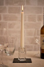Square Vintage Glass Wedding Dinner Table Taper Candle Stick Candlestick Holders