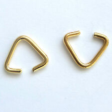 20 Gold Plated 10mm Triangle Clamp Findings