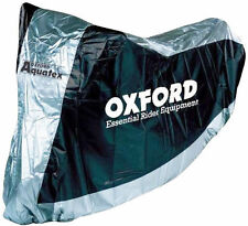 NEW MOTORCYCLE / SCOOTER BIKE COVER OXFORD AQUATEX SIZE L SILVER HIGH QUALITY