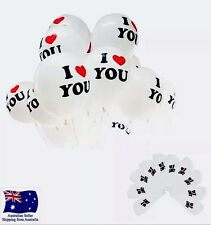 """5x I LOVE YOU Balloons 12"""" B'Day Wedding Special Occasion Anniversary Proposal"""