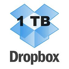 New Dropbox Pro 1 TB valid for 1 Year - You may Change login email and Password!