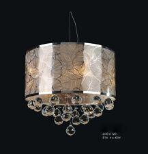 Chandelier Silver Fine Crystal Ceiling Light Pendant Chrome New Lighting Lamp