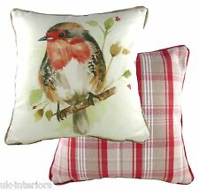 "17"" Country Robin Cushion Evans Lichfield DPA318 43cm Cotton / polyester Bird"