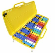 Quatro Percussion 25 note chromatic glockenspiel with case & 2 beaters xylophone