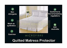 Pair of Quilted Pillow Protectors Sheet Machine Washable Pillows Cover 48X74cm