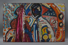 Original Expressionist Komposition Mann & Frau - sign. Richter/ dat. `89´