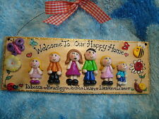 3d Personalised Family Home Welcome Plaque Sign 6 Character House Unique