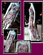 Angela Paisley Print Sundress Size XL 12/14 Fully lined Good Condition.
