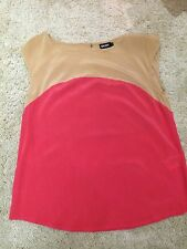 DKNY Silk Colour Block Top, Size S