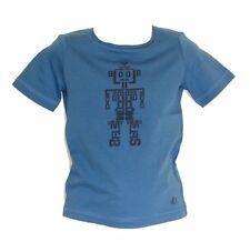 "S.OLIVER T-Shirt / Shirt Gr. 104/110 SLIM FIT ""ROBOTER"" in mittelblau NEU"