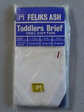 Vintage retro 60s unused 3 yo boys toddlers hipster briefs tags cotton