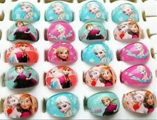 20pcs mixed Frozen Anna Elsa children's party resin cute round rings free post