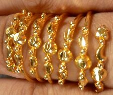 Indian Gold Plated Party Traditional Golden Stone CZ Adjustable Finger Ring Set}