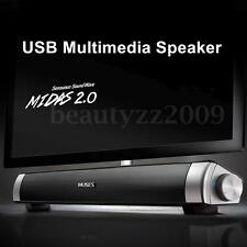 USB Powered Multimedia Sound Bar Speaker for Cell phone PC Desktop Laptop Tablet