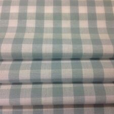 Laura Ashley made to measure roman blind in duckegg blue gingham fabric