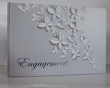Engagement Guest Book with Butterfly Design | Keepsake | Gift | Present