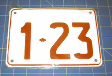 Novelty Small Aluminium Standard Number Plates Made To Order