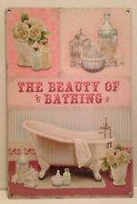 The Beauty Of Bathing Vintage Style Bath Wall Plaque - Metal Sign (30 x 20cm)