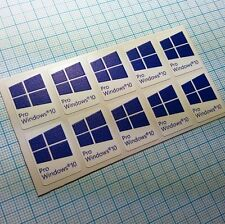 10 x Windows 10  Pro sticker badge aufkleber  - HD Quality (blue 226)