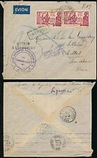 FRENCH SENEGAL + GUINEA 1940 POSTAL SERVICE INTERRUPTED...AIR AUXILLIARY CACHET