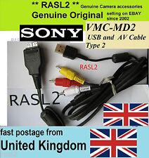 Genuine SONY USB AV Cable type 2 VMC-MD2 DSC- W290 W210 W215 W220 W230 W275 W270