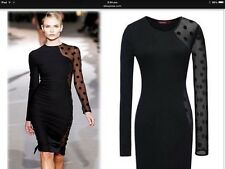Sexy Lace Inserts elegant Plus size XXL Party Dress Long Sleeves Women's Pencil
