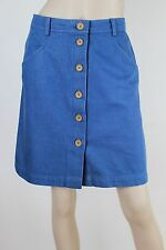Sportsgirl blue denim skirt with front buttons & pockets - NWOT - 10