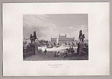 Berlin - Das neue Museum - Stich - Original Stahlstich 1862