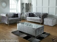 Chesterfield Deep Buttoned Bespke UK Made Glass Coffee Table