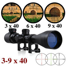 3-9x40E red and green air rifle gun optics sniper hunting scope 11mm 20mm Mounts