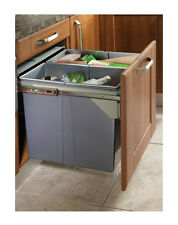 Large Pull Out Kitchen Waste Bin 68Ltr - Fits 500mm Cabinets - 2 Compartments